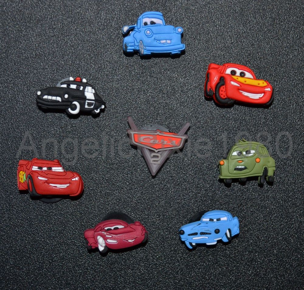 Pc Disney Cars SHOE CHARMS Fits Wristbands Crocs USA SELLER - Car shoe usa