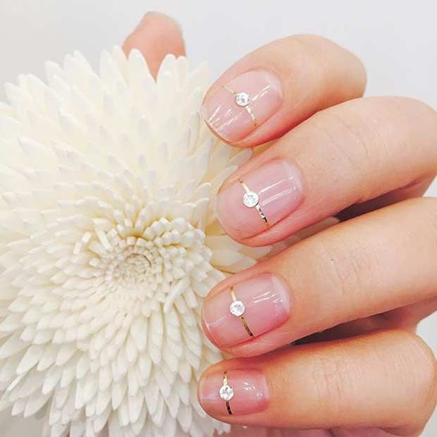31 Elegant Wedding Nail Art Designs | Wedding nails art, Natural ...