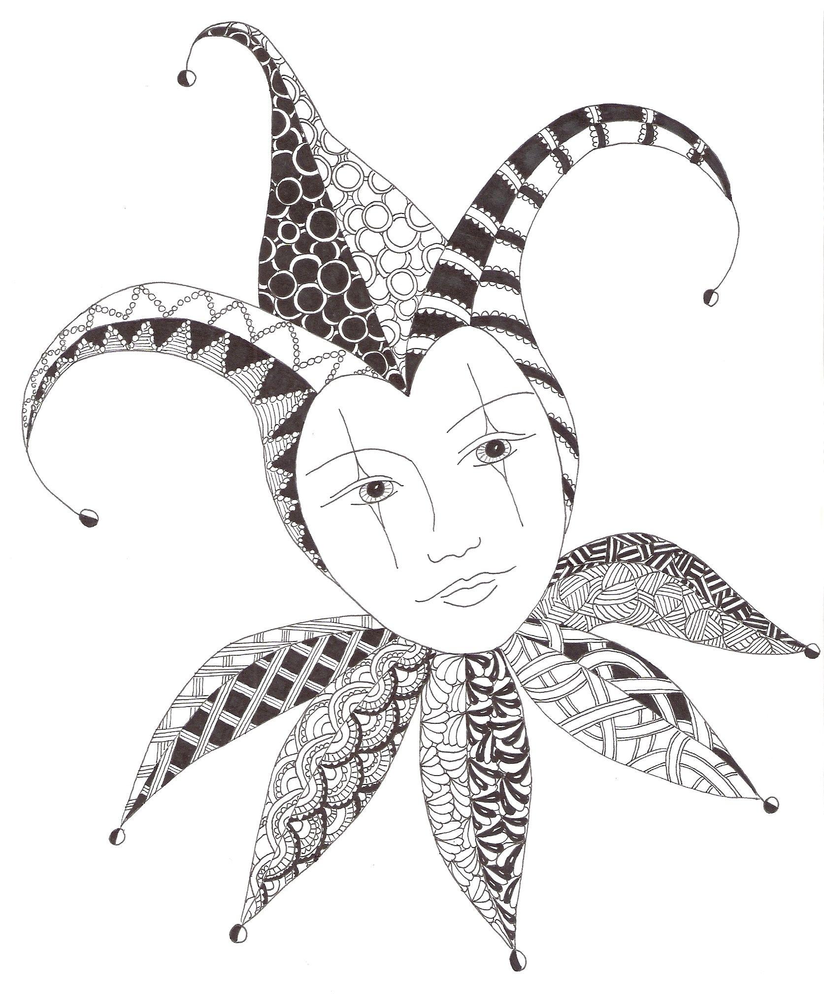 Zentangle made by Mariska den Boer 4  Fantasy-figuren