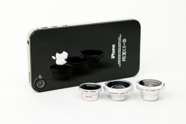 Fisheye, Macro, Wide Angle and Telephoto Phone Lenses: magnetic for the iPhone  $20-50 (for all three)