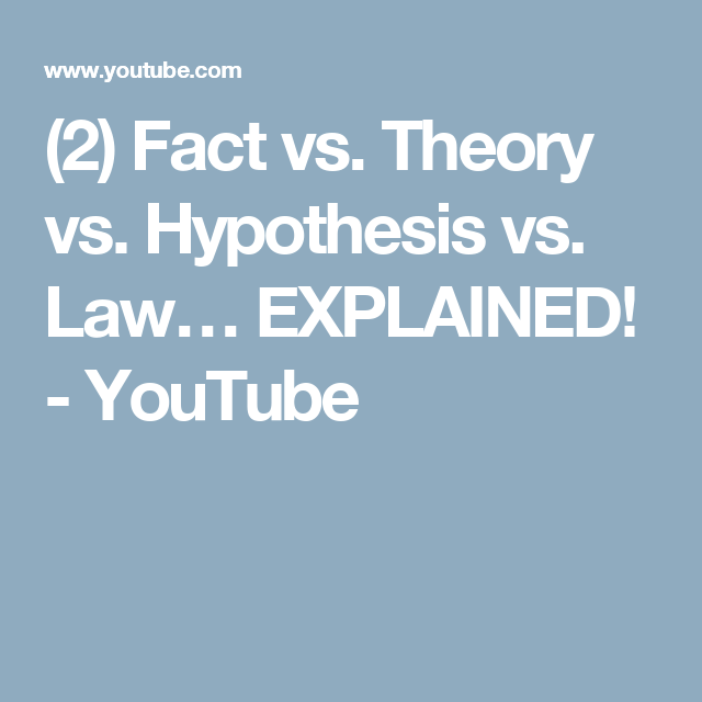 2 Fact Vs Theory Vs Hypothesis Vs Law Explained Youtube Hypothesis Facts Theories