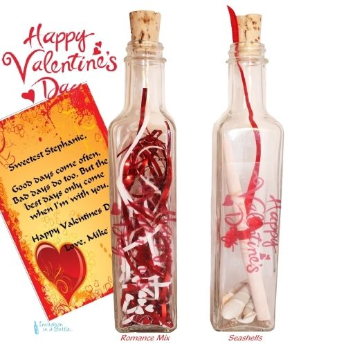 Valentines Day Gift Message In A  Bottle Gift Full 12 Glass Bottle Valentines Day Gift Valentines For Her Valentines For Him Letter Scroll