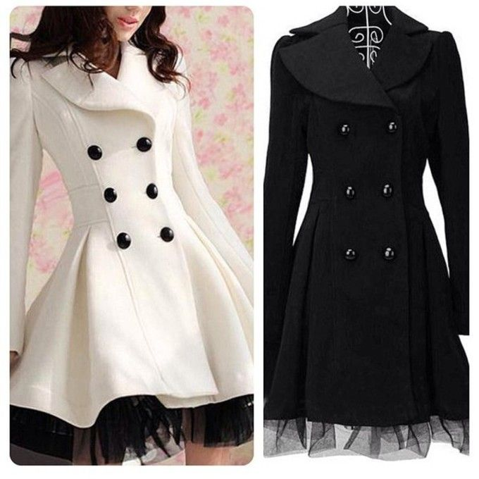 137ddeca5bc19 lace dress lace ruffles white dress long black cute beautiful pretty girl  girly fashion buttons winter coat peacoat instagram form fitting long oat  snow ...