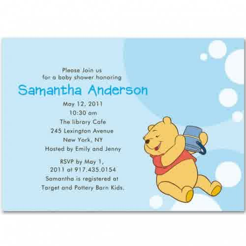 baby shower invitations: cute winnie the pooh baby boy shower, Wedding invitations