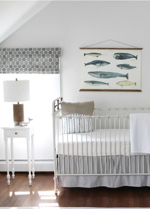 Create A Calming Nursery For Your Baby Boy By Decorating With White Veil Paint Color