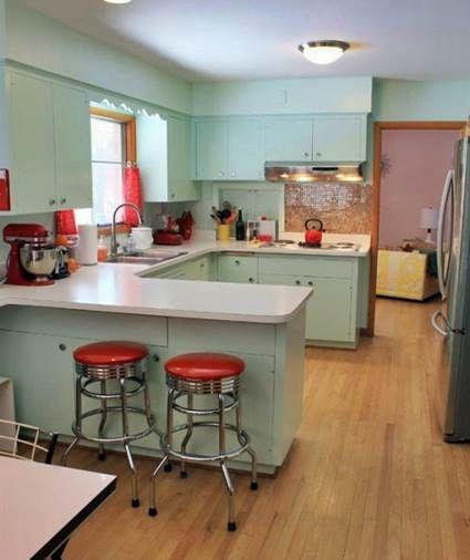 Cocinas estilo cafeteria a os 50 50th - Cocinas retro anos 50 ...