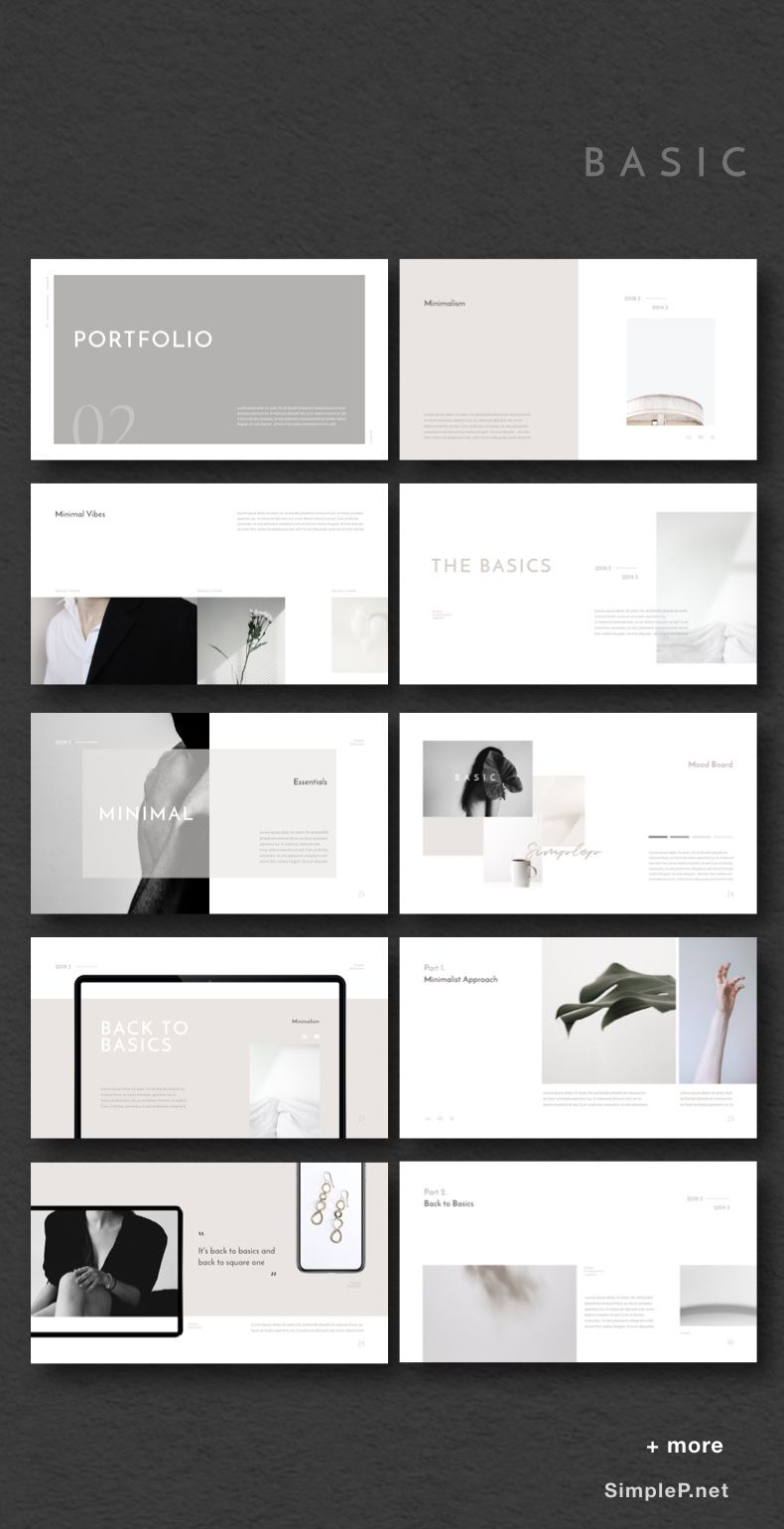 Simple & Minimal Presentation Template #ppt #powerpoint #powerpoints #basic #portfolio #presentation #template #moodboard #templates #pitchdeck #simplep #AD