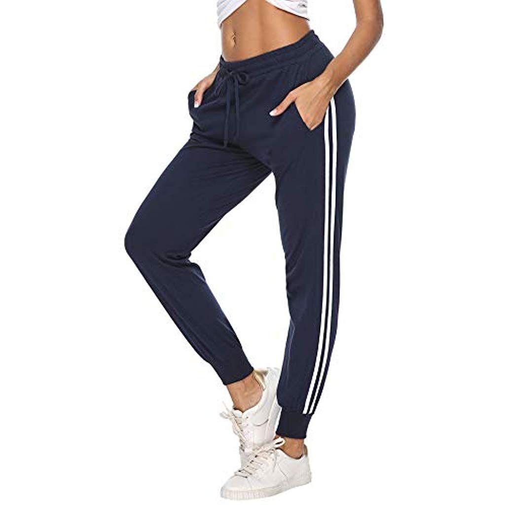 Aibrou Pantalon De Chandal Mujer Largos Pantalones Deportivos De Algodon Primavera Verano Con Bolsilp Pantalones Chandal Mujer Pantalones De Entrenamiento Ropa