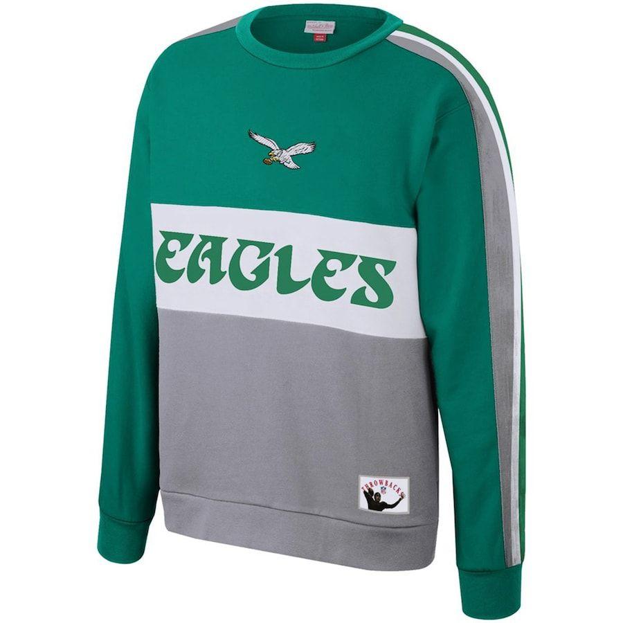 Philadelphia Eagles Mitchell Ness Women S Leading Scorer Fleece Pullover Sweatshirt Kelly Green Sweatshirts Crew Sweatshirts Eagles Sweatshirt [ 900 x 900 Pixel ]