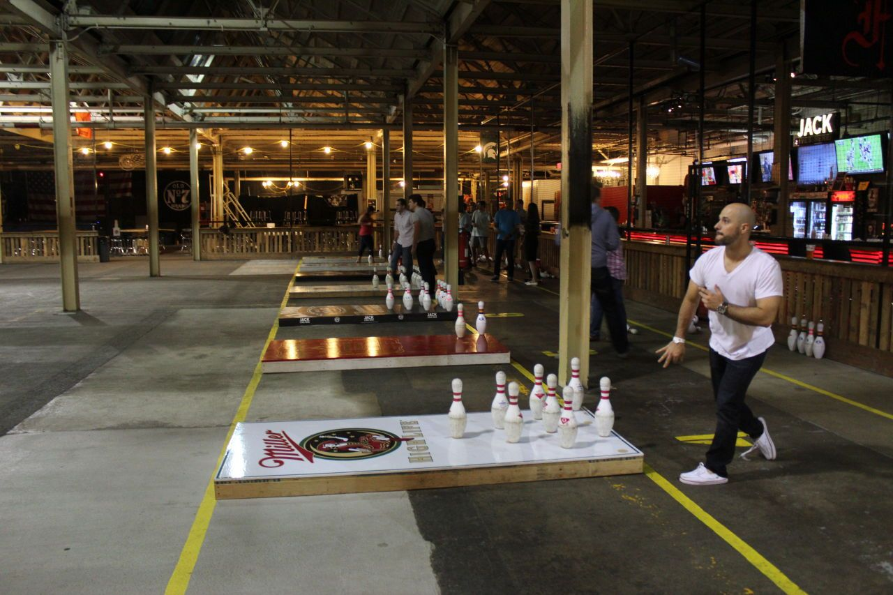 Fowling, a sport taking root in Detroit, is bowling, but instead of ...