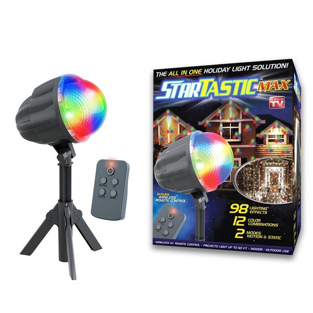 As Seen On Tv Startastic Max 12 Color Combinations Remote Controlled Outdoor Indoor Motion Laser Light Projector 1562 In 2020 Holiday Lights See On Tv Laser Christmas Lights