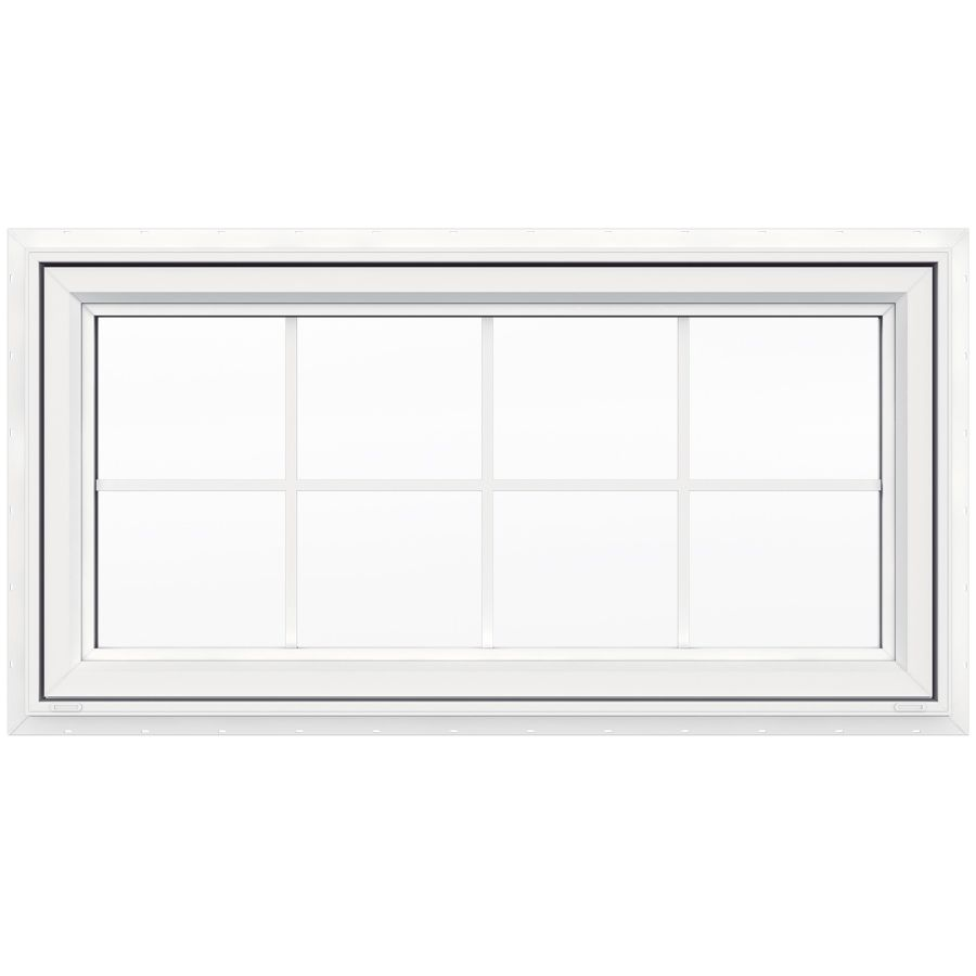 Jeld Wen V 4500 47 5 In X 23 5 In Single Vinyl New Construction White Awning Window Lowes Com Window Awnings Awning Windows Kitchen New Construction