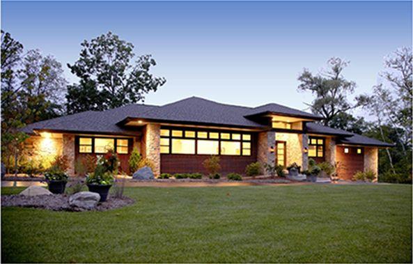 Contemporary Prairie Style Home Prairie Style Houses Hip Roof