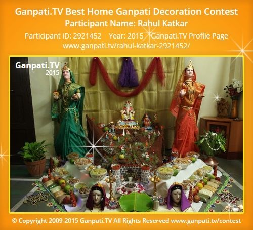 Rahul Katkar Home Ganpati Picture 2015 View More Pictures And Videos Of  Decoration At