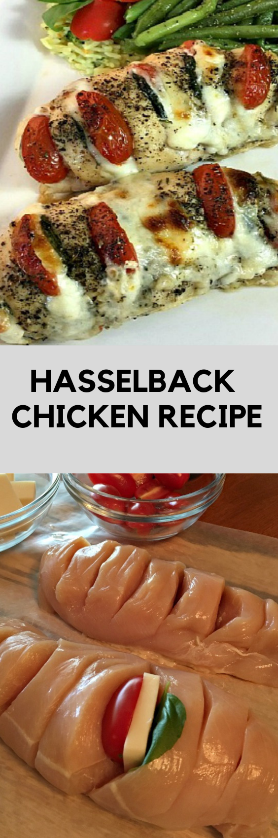 HASSELBACK CHICKEN RECIPE #hasselbackchicken Hasselback Chicken is stuffed with mozzarella, tomato and basil making it a new and delicious way to enjoy chicken for dinner! #hasselback #chicken #recipes #food #deliciousrecipe #dinnerrecipe #hasselbackchicken