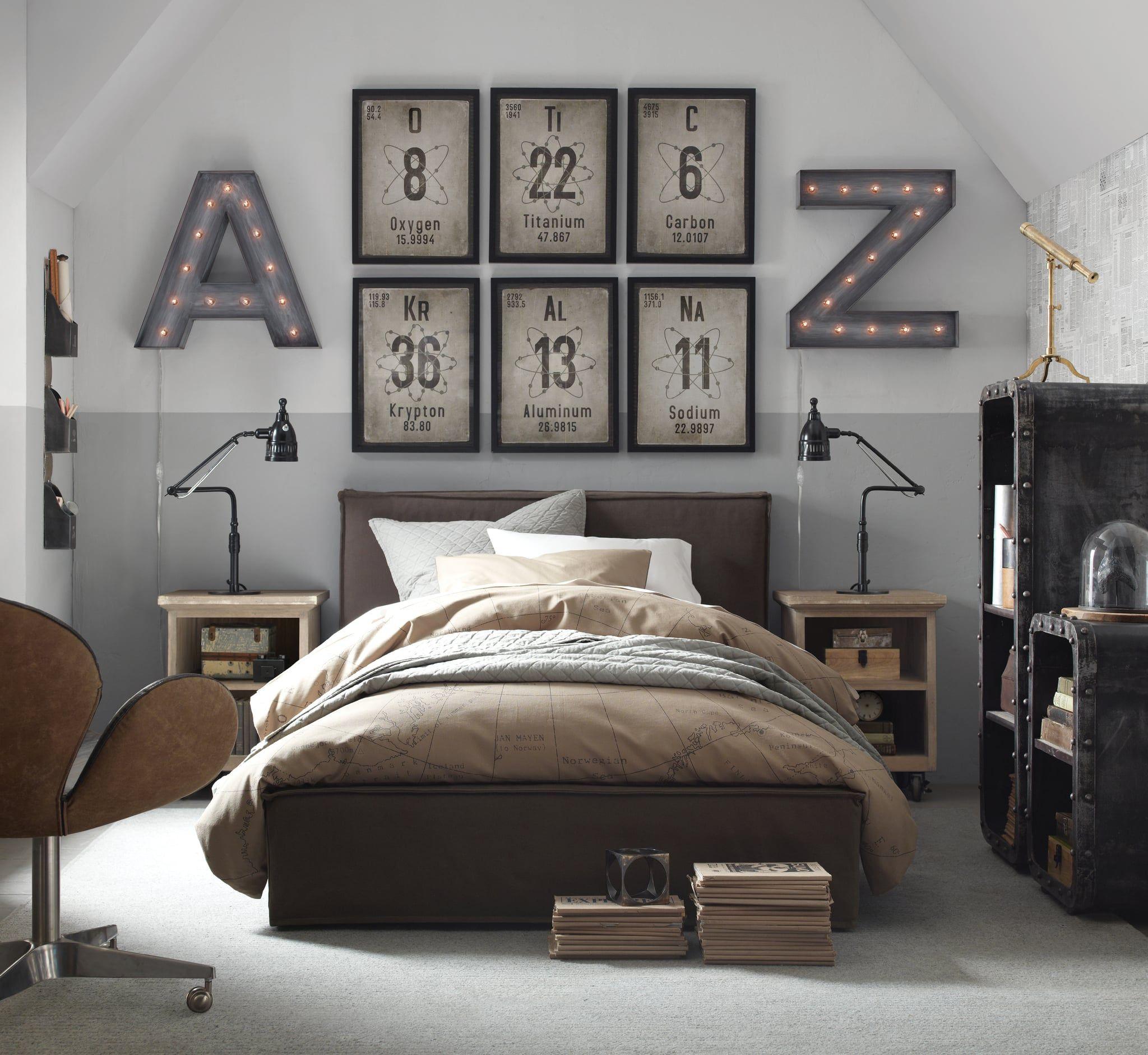 Hayes Bedroom Mens bedroom, Bedroom design, Young mans