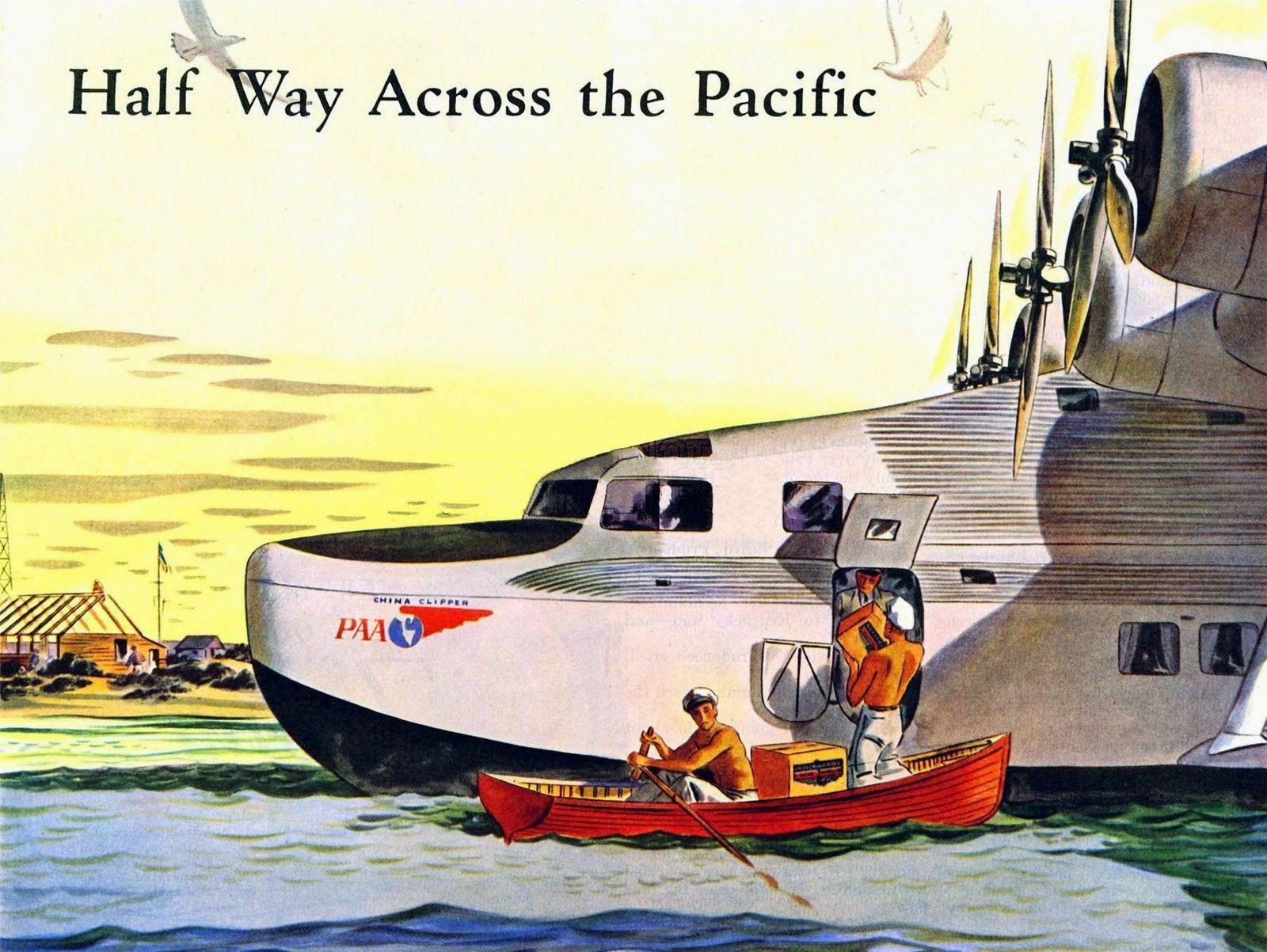 pan china clipper poster flyingboats