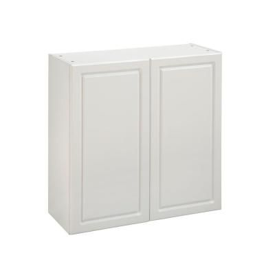 Heartland Cabinetryready To Assemble 30x29 8x12 5 In Wall Cabinet With Double Doors In White Laundry Room