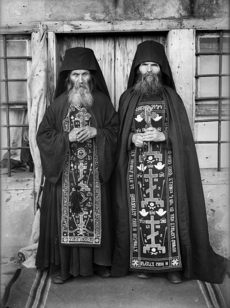 Human] Christian Orthodox schema monks, Russia | Religions and