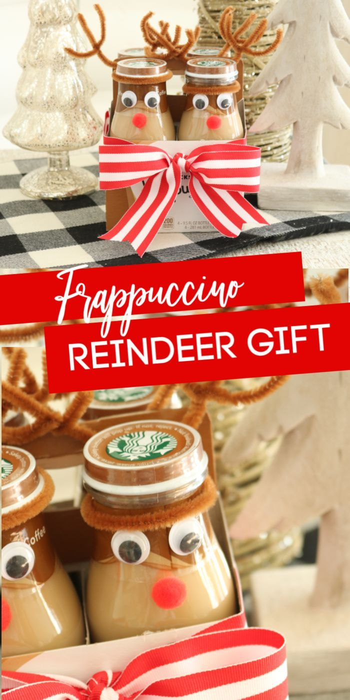 Reindeer Frappuccino Bottles Gift Idea - Passion For Savings