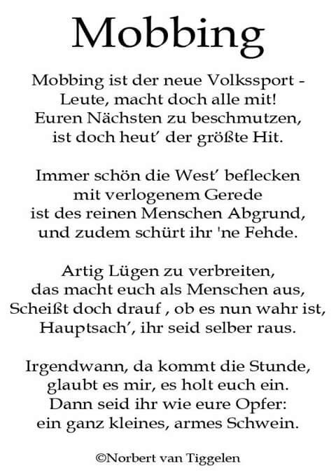 Mobbing Reime Pinterest Poems Thoughts Und Words