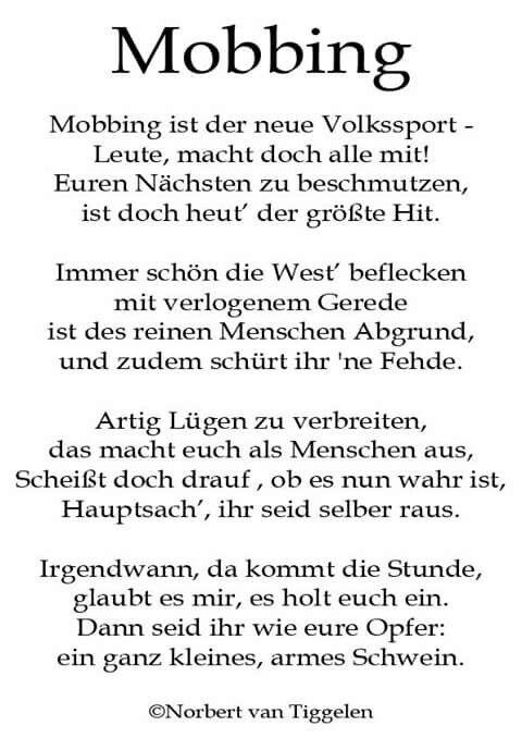 mobbing | spr�che/weisheiten und lustiges | pinterest | poem