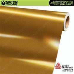 Avery Dennison Gloss Metallic Gold Vinyl Wrap Metro Restyling Vinyl Wrap Vinyl Gold Vinyl