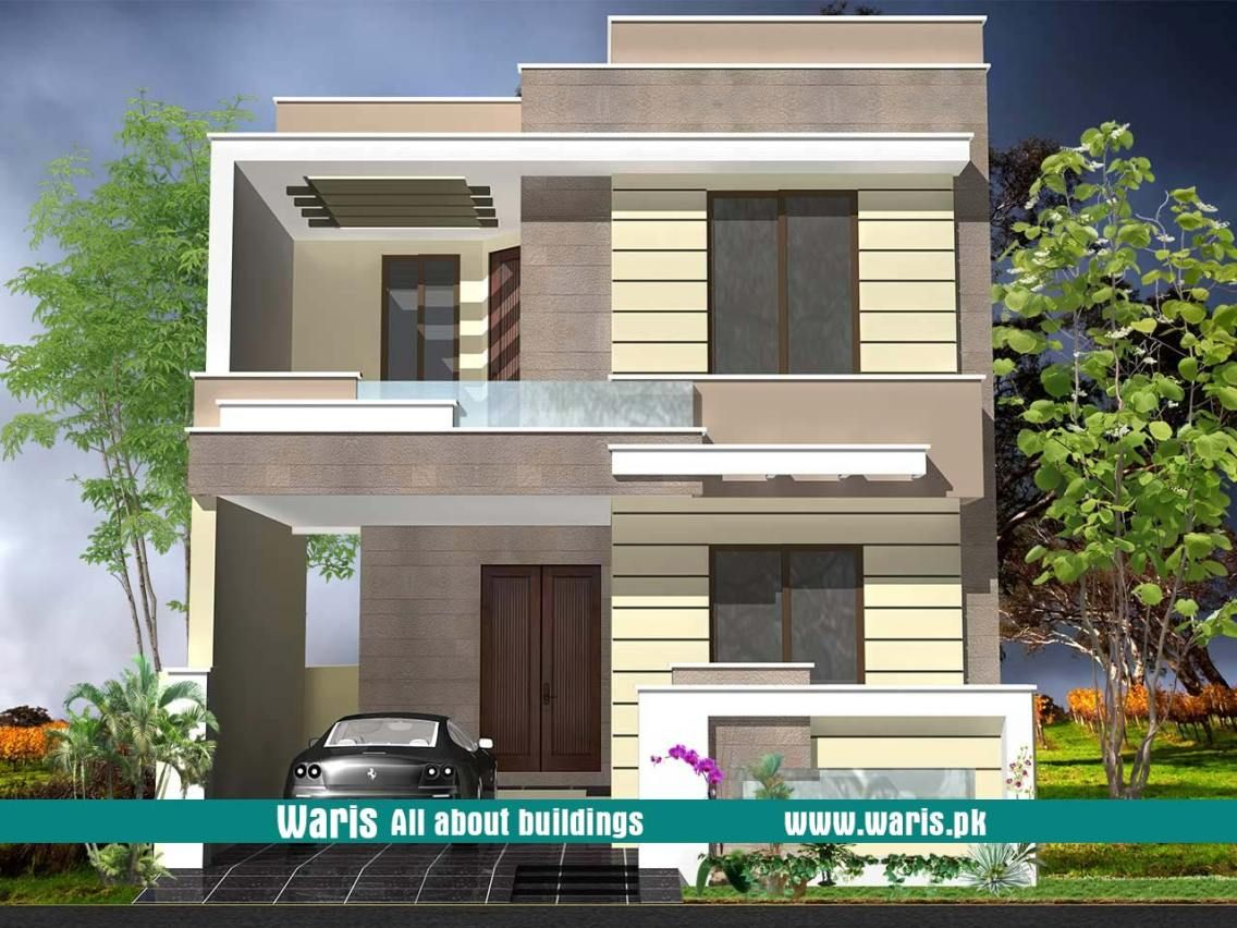 Waris House 5 Marla 3d View Elevation 25x50 In Dc Colony