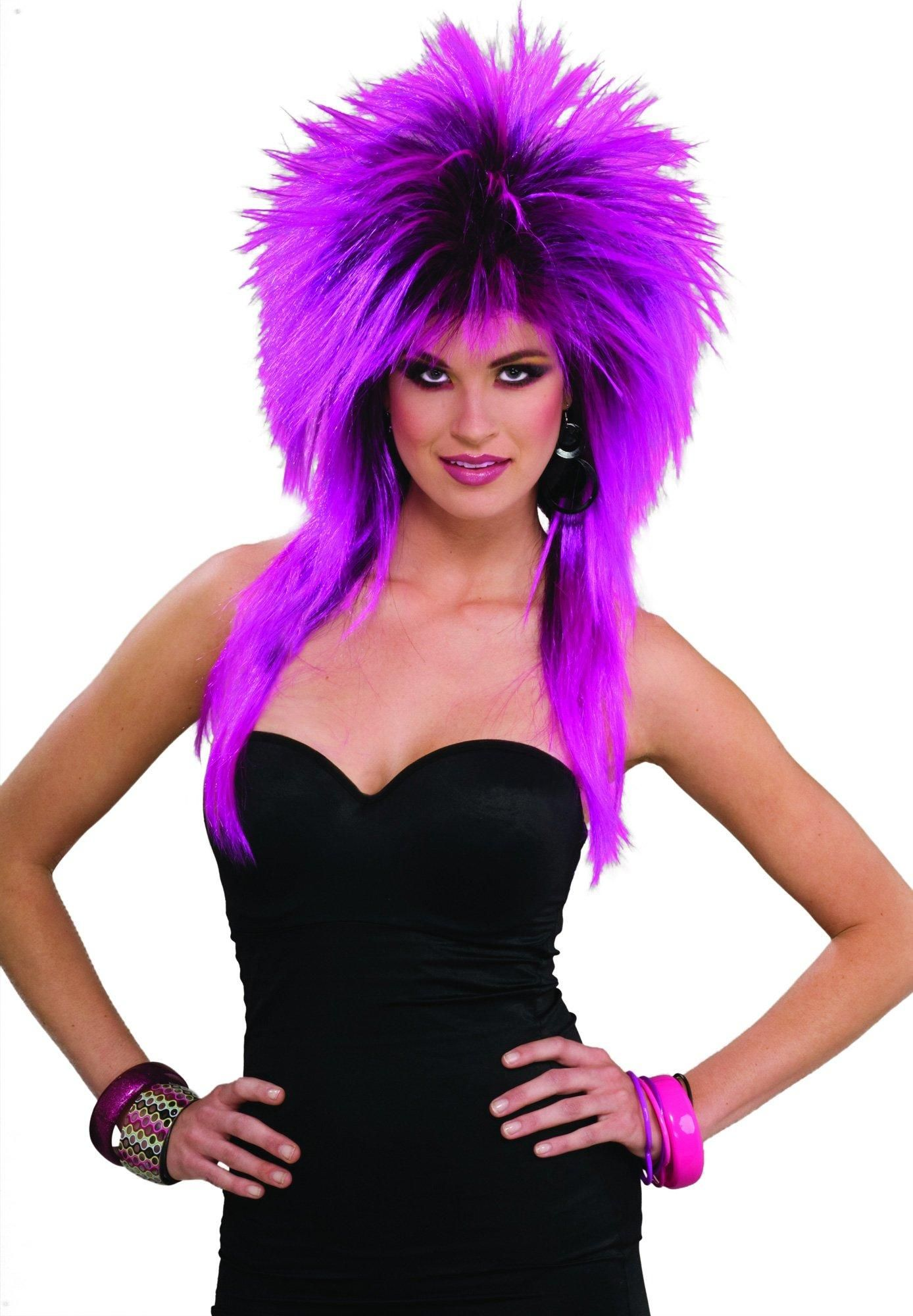 80's Purple Pizazz Adult Wig from (With