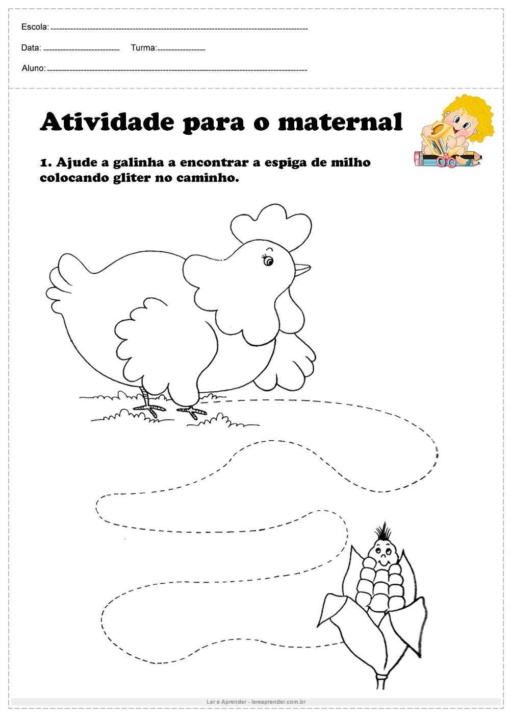 Atividade Para O Maternal Ajude A Galinha Atividades Para