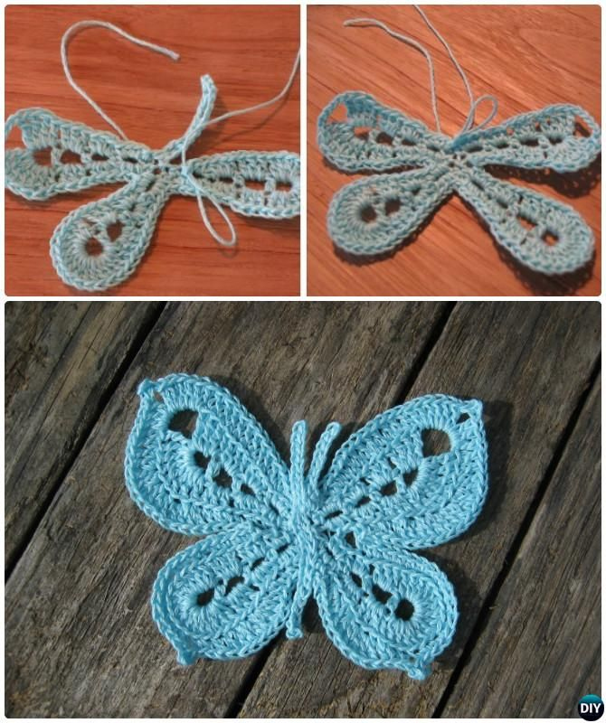 Picot Stitch Crochet Butterfly Free Pattern #Crochet | Crochet and ...