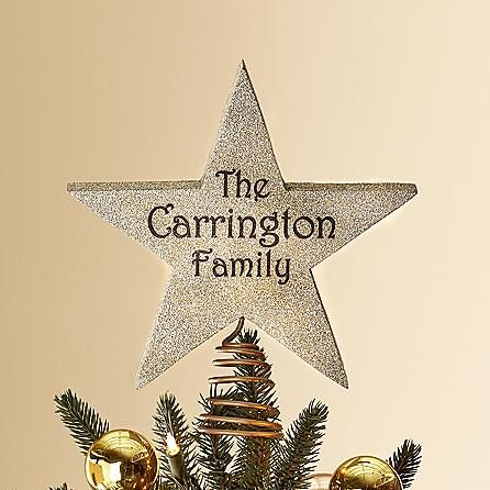 Family Star Tree Topper Personal Creations Christmas Tree Tops Star Tree Topper Personalised Christmas Decorations