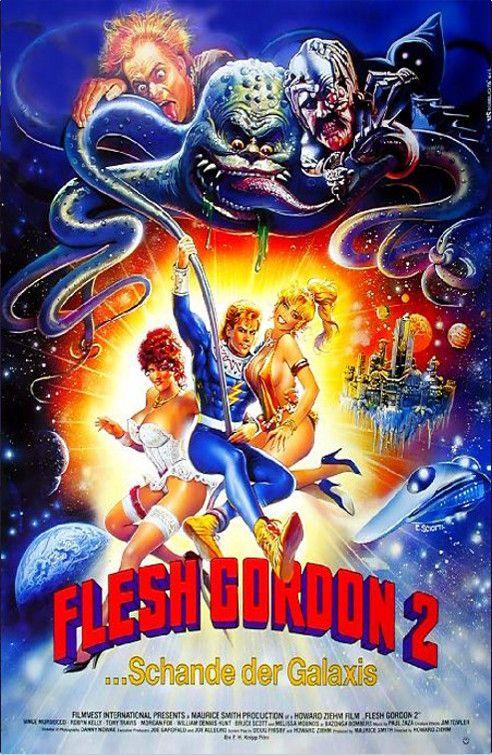 Flesh Gordon 2 Schande Des Universums 1989 Ot Flesh Gordon Meets The Cosmic Cheerleaders German Poster 9 Poster Artwork Cinema Art Horror Movies
