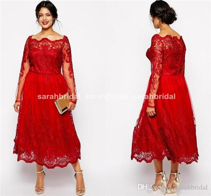 Plus Size Special Occasion Dresses 2015 Cheap Custom Made Tea Length