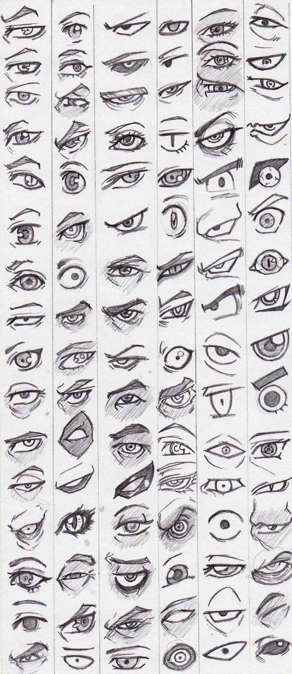 Different ways to draw eyes stylized eye reference stylized