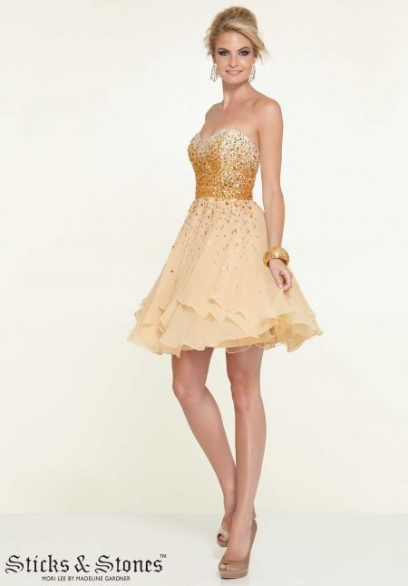 d83592b19c3 Homecoming   Party  Cocktail   Dresses Chiffon with Ombre Beadin
