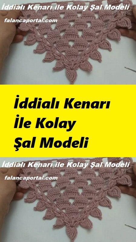 İddialı Kenarı İle Kolay Yapılan Şal Modeli #prayershawls