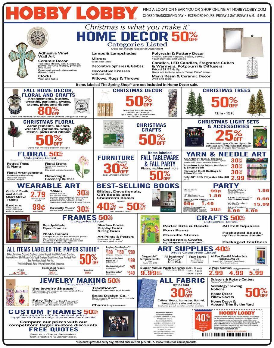 Hobby Lobby Weekly Ad October 18 24 2015 Weekly Ads And Circulars October 2015 Us Retaile Hobby Lobby Weekly Ad Hobby Lobby Black Friday Hobby Lobby Sales