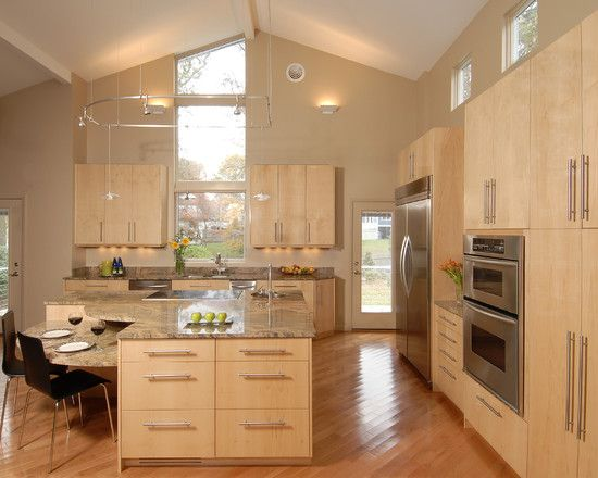 Contemporary Kitchens Wood Cool Design