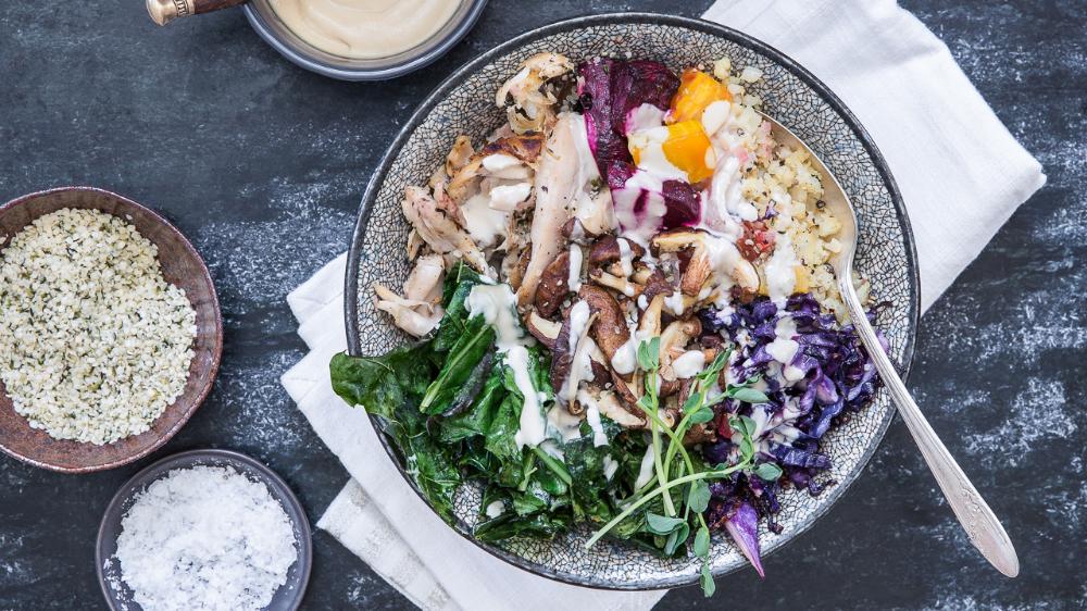 Photo of Roasted Cauliflower Rice Bowl with Lemon Tahini Dressing – barre3