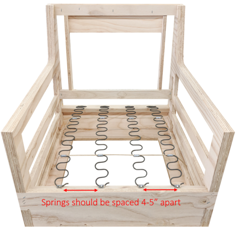 How To Repair And Replace Zig Zag Furniture Springs For Your Upholster Spring Furniture Upholstered Chairs Diy Dining Chairs Diy