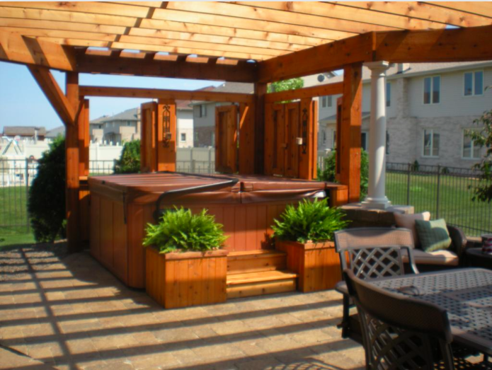 Exactly What Ive Been Looking For Love The Look Excepts I D Hang Outdoor Backyard Hot Tubsbackyard