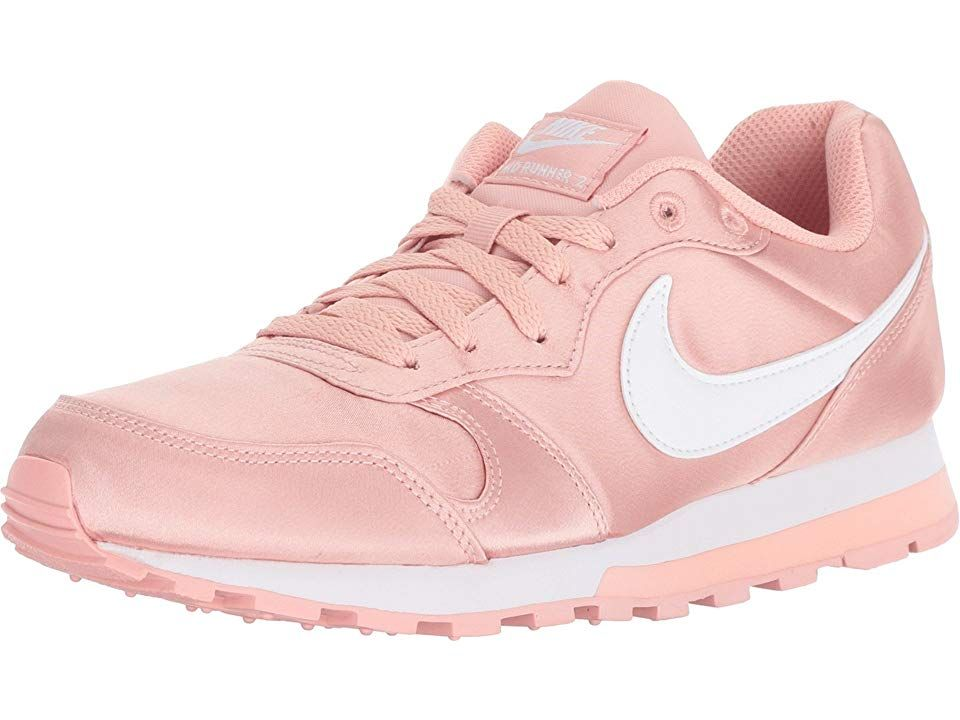 Nike Md Runner 2 Women S Classic Shoes Coral Stardust White Nike Classic Shoes Shoes