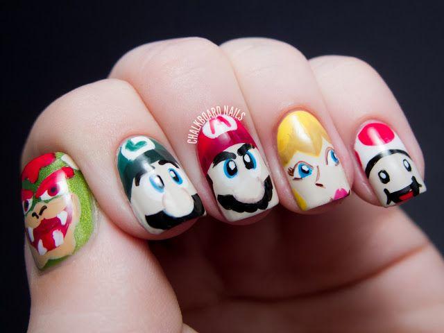 Mario Nail Art | Nail art | Pinterest