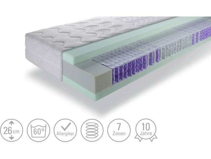 Taschenfederkern Matratze Sensitiv Tfk 2600 Weiss Masse Cm B 100 H 26 Hoffner Matratze Weiss Hoffner