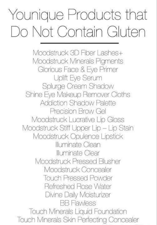 Gluten Free Makeup List 2018 | Makeupview co