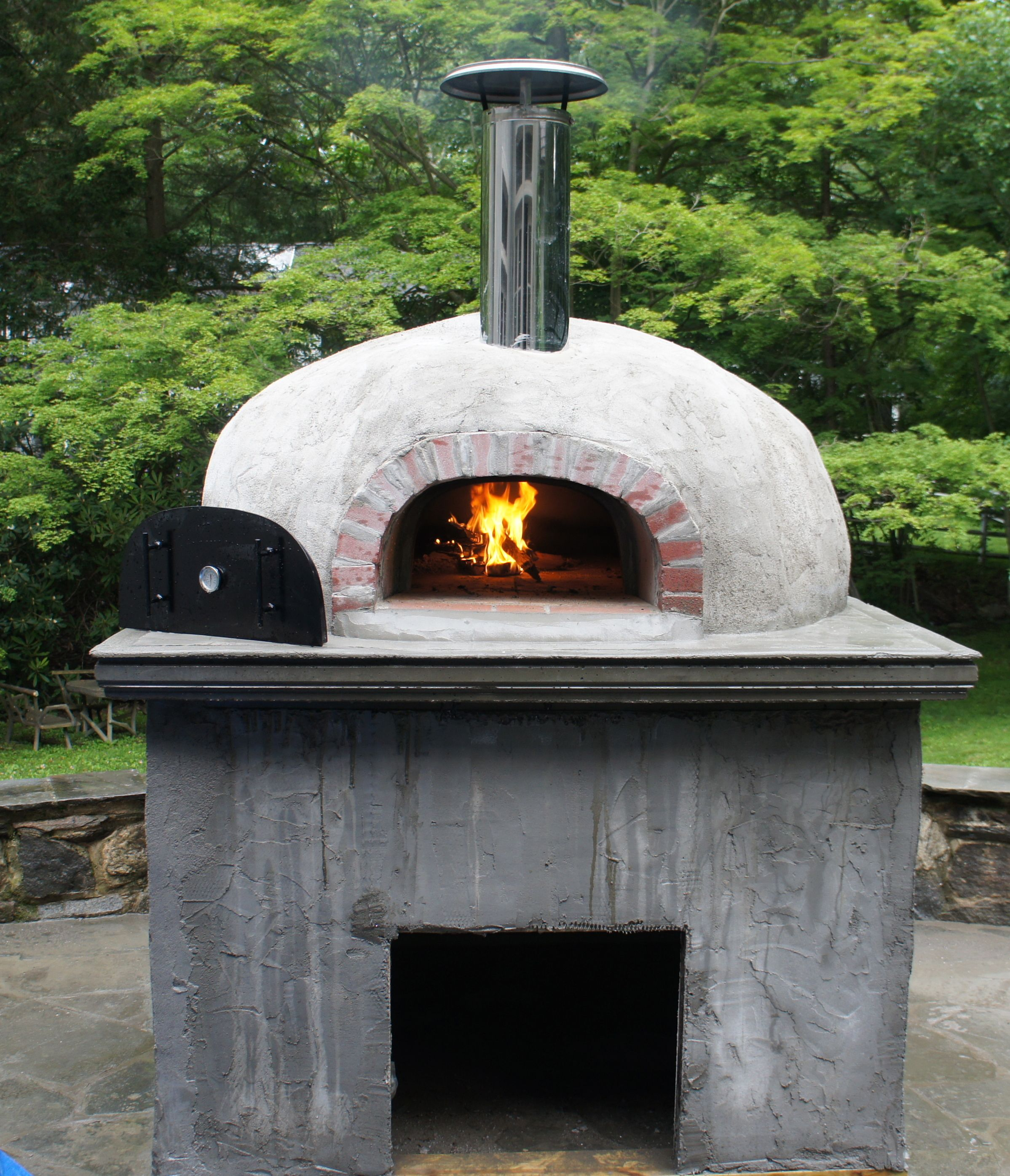 My Back Yard Wood Burning Pizza Oven (With images) | Wood ...