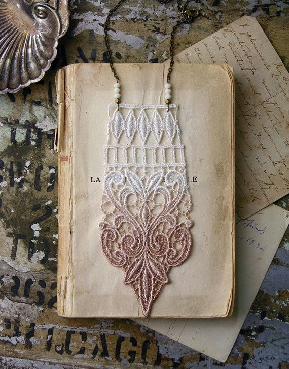 this shop does wonders with things made out of lace, i can't get over it. i could buy it all - necklaces, bracelets, earrings - everything. and to top it off - some of the best photography i've seen on etsy of their product, i want to live in the staging world of these photos :)