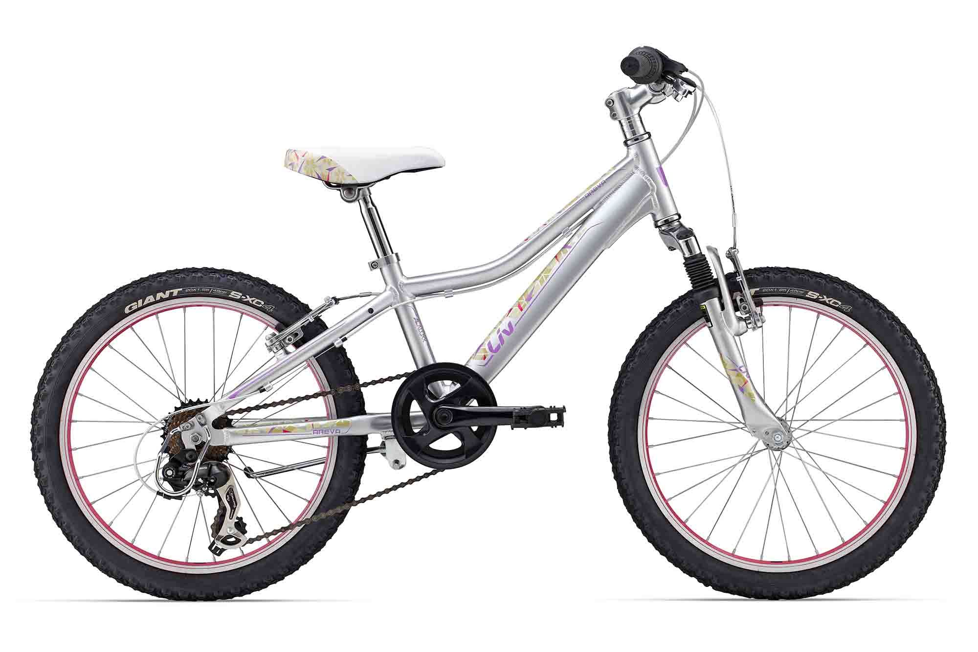 Girls Areva 20 Price 299 00 Beginners Mountain Bike Featuring 7 Speed Gearing Front Suspension Alloy Frame Chain Derailleur Kids Bike Bike Riding Giants