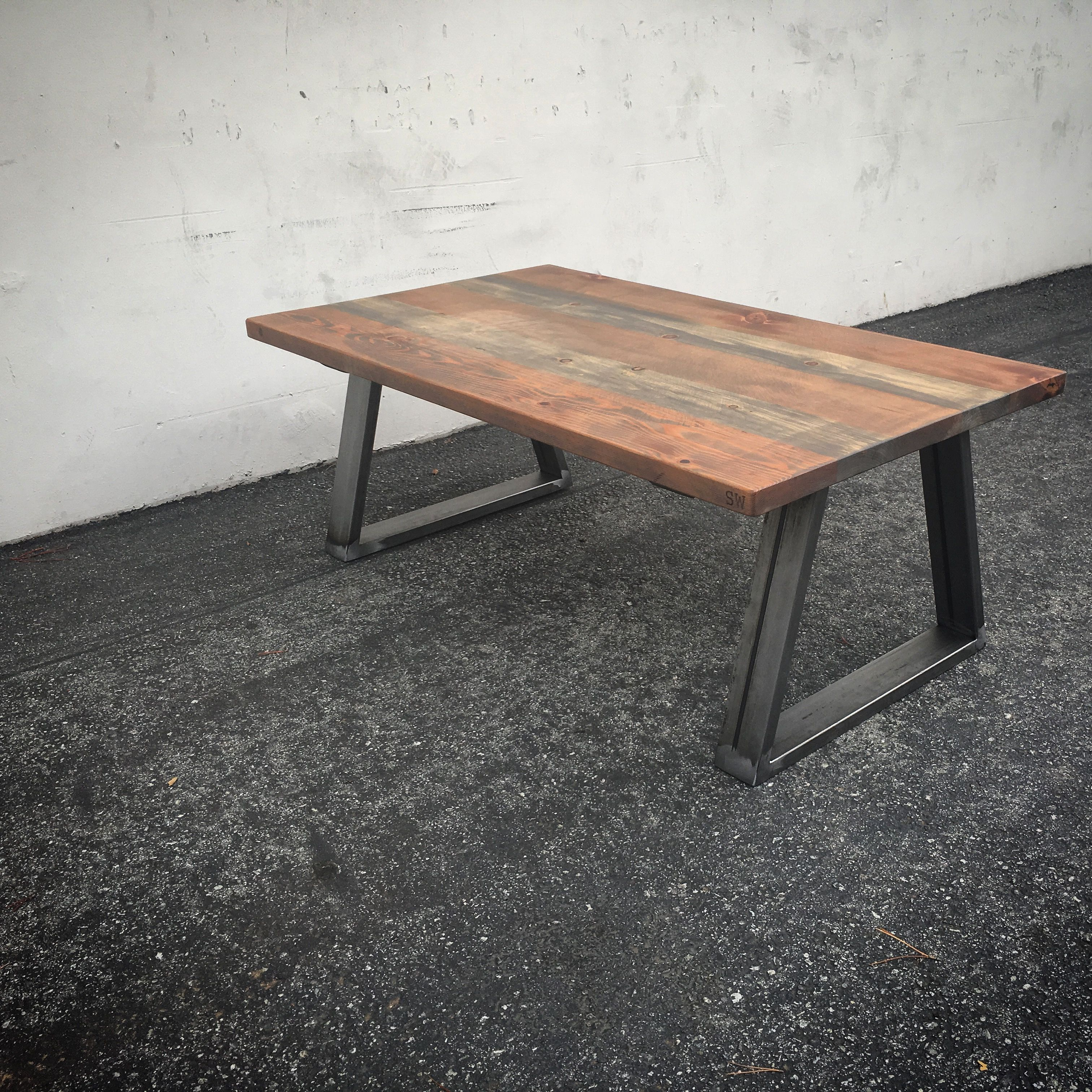 industrial reclaimed furniture. Reclaimed Wood And Industrial Steel/ Modern Rustic Coffee Table For Any Decor / Www. Furniture